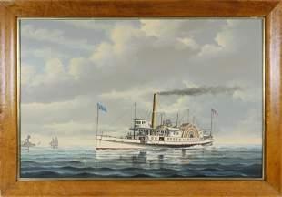"""Salvatore Colacicco Oil on Board """"Portrait of the"""