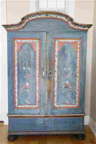 Scandinavian Decorated Armoire, early 19th Century