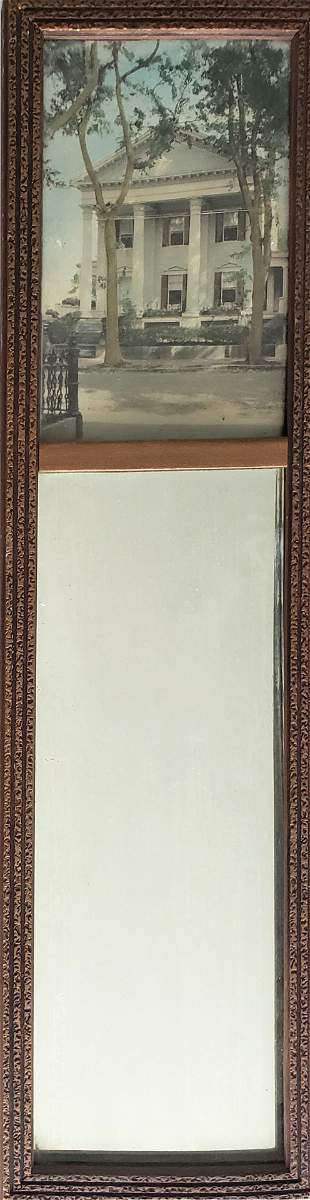 Vintage Diminutive Trumeau Mirror With Nantucket
