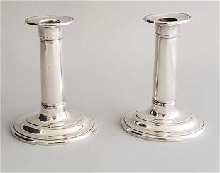 Pair of Stieff Sterling Silver Candlesticks