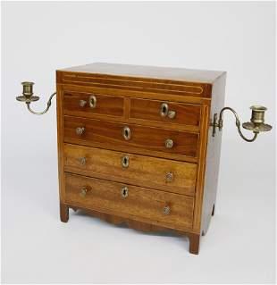 Late George III Inlaid Mahogany Tradesman's Sample