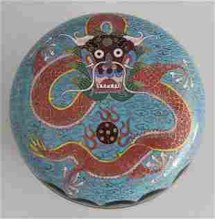 Antique Chinese Cloisonne Covered Box