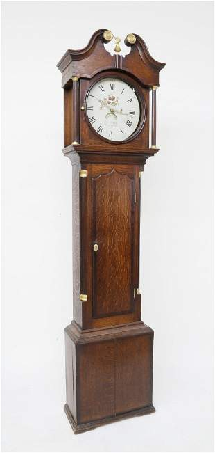 English Oak Tall Case Clock By Robert Simpfon,