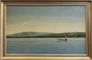 "Robert Stark Jr. Oil on Board ""Irish Fishing Trawler in"