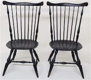Pair of Warren Chair Works Nantucket Fan Back Windsor