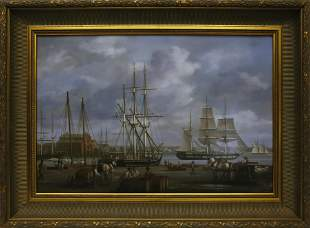 """Louis Dodd Oil on Panel """"American Active Commercial"""