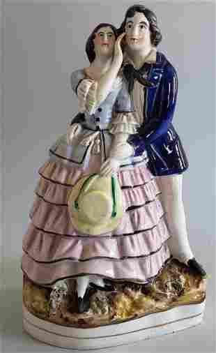 19th Century English Staffordshire Courting Couple