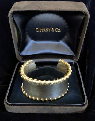 Tiffany & Co. 18k Yellow Gold and Sterling Silver Cuff