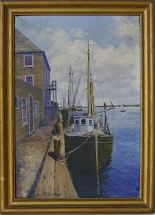 "James Francis Barker Oil on Canvas ""The Endeavor -"