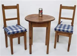 Antique English Pine Three-Piece Child's Dining Set