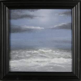 """Duncan Will Oil on Board """"Roiling Sea"""""""