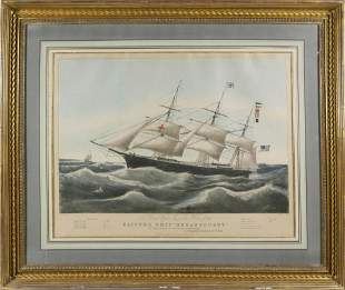 N. Currier and Ives Lithograph of the Clipper Ship