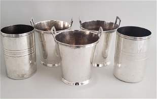 Five Christofle and Ralph Lauren Silver Plated Ice