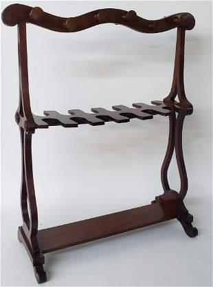 English Mahogany Equestrian Boot Rack, 19th Century