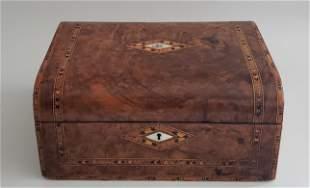 19th Century English Multiwood Inlaid Box