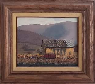 "Christopher Robbins Oil on Artist Board, ""October"