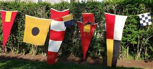 Group of 8 World War II U.S. Navy Nautical Signal Flags
