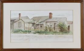 "Jane Brewster Reid Watercolor on Paper, ""Sconset"