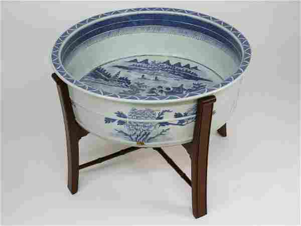 Extremely Rare Canton Fish Basin, late 18th Century