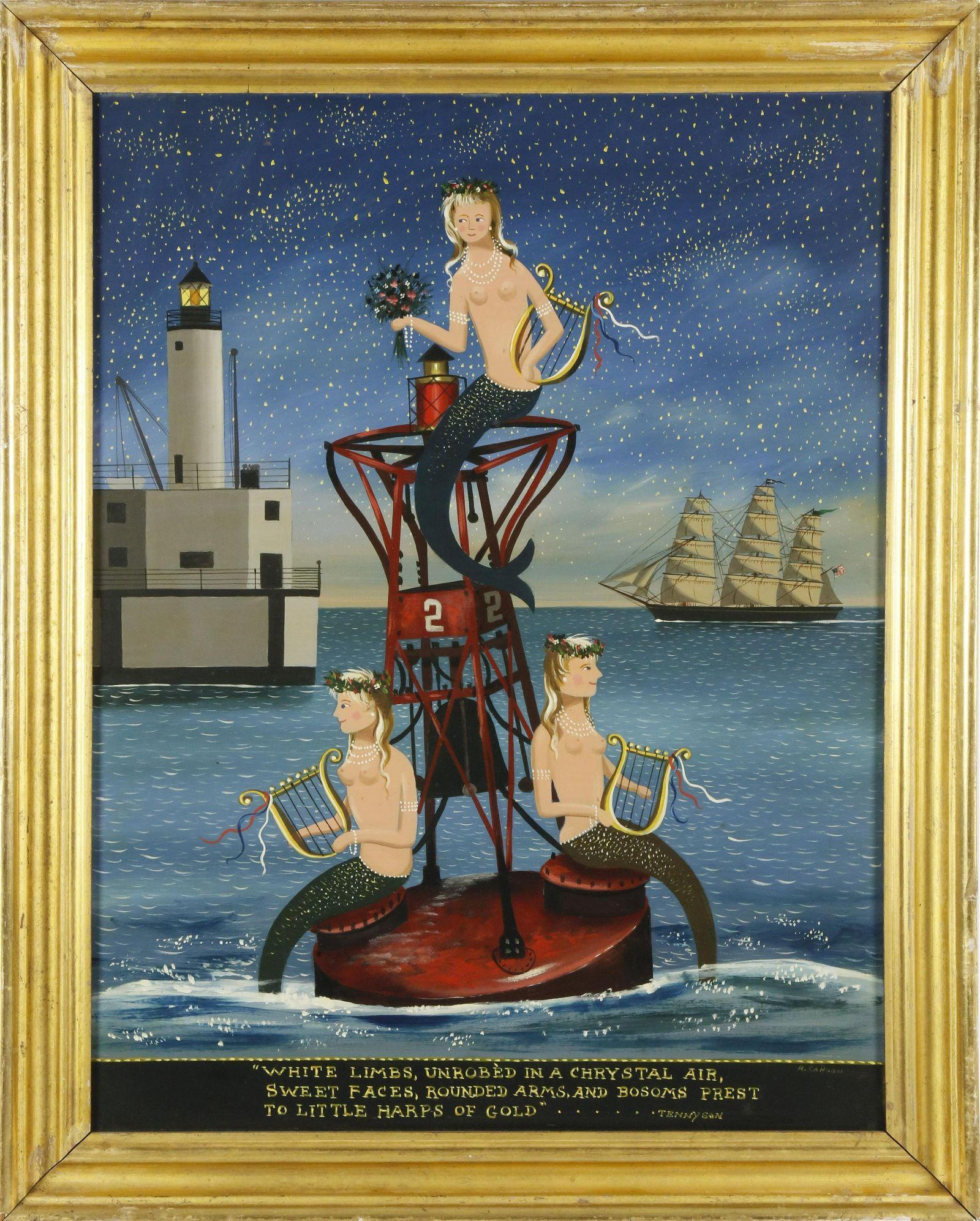 "Ralph Eugene Cahoon Jr. Oil ""The Sea Fairies"""