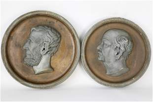 Charles Stierlin Patinated Plaster Lincoln Portrait