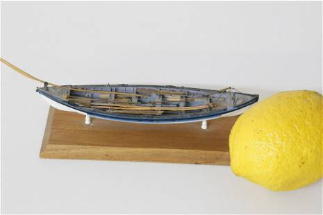 Rare and Fine Colin Gray Miniature Longboat