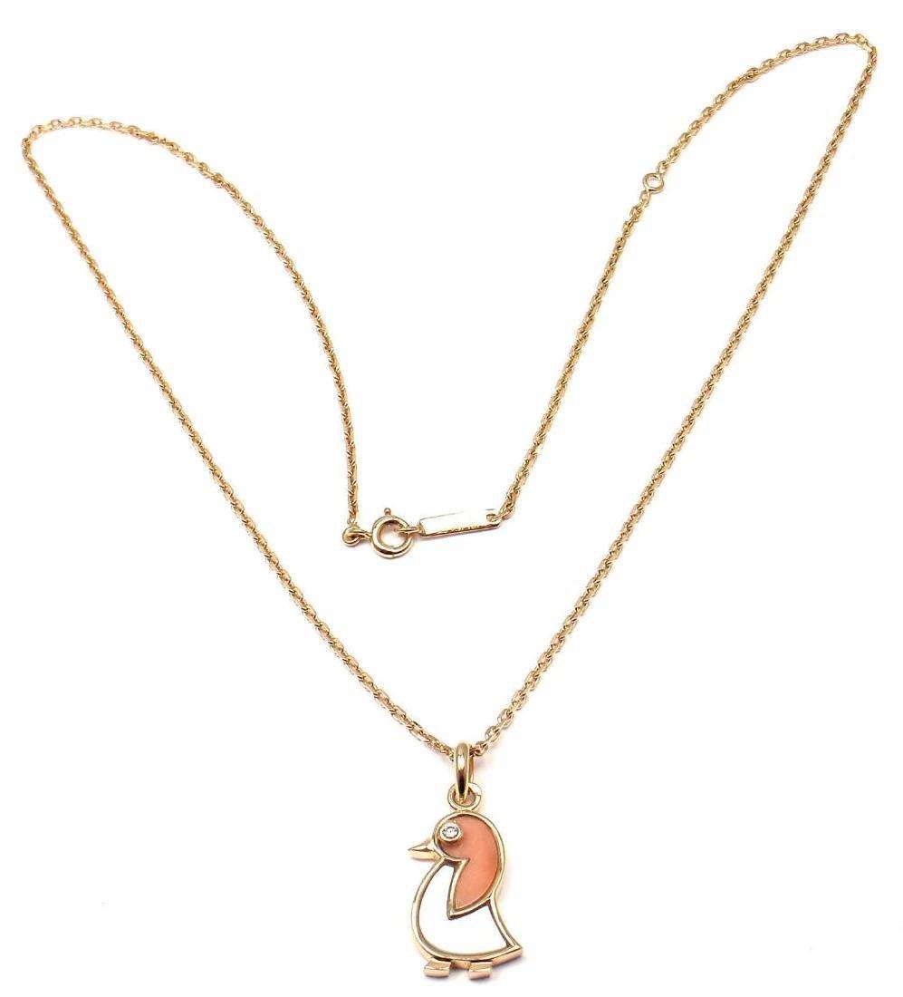 Van Cleef & Arpels 18k Gold Coral Mother Of Pearl - 4