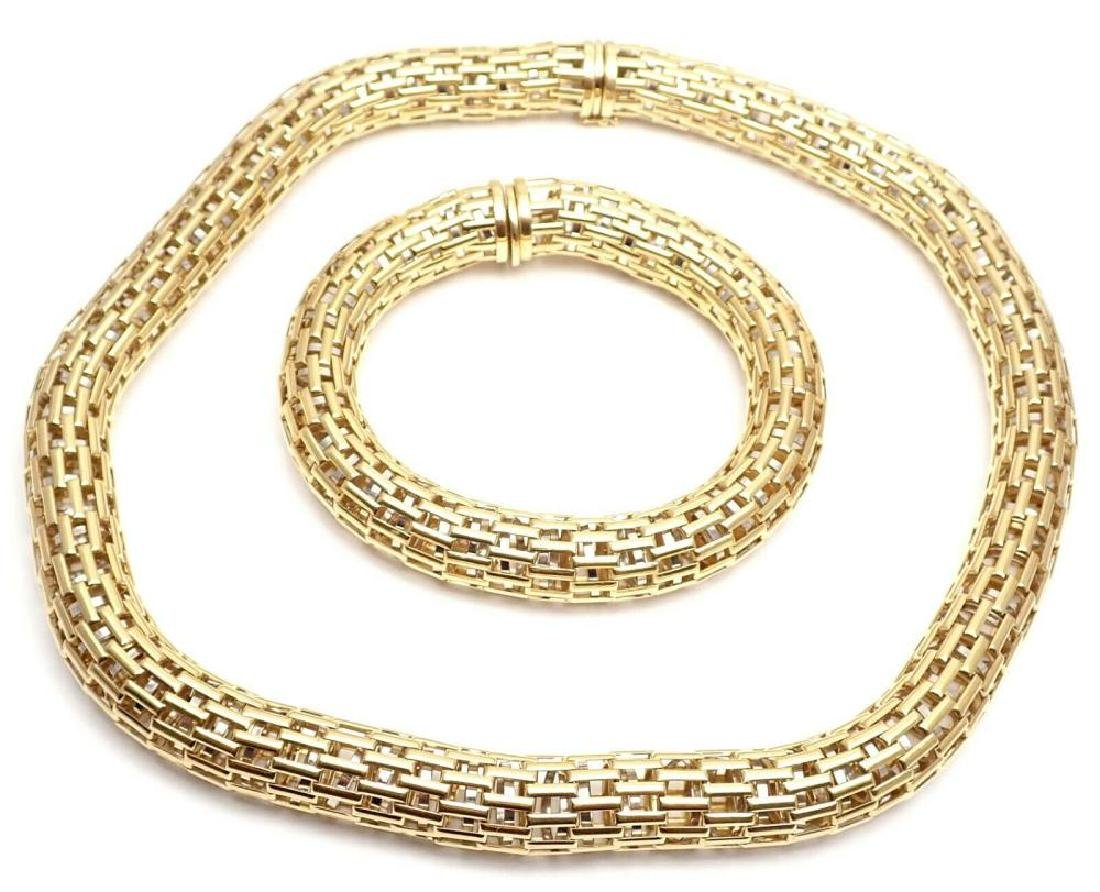 Authentic! FOPE Italy 18k Yellow Gold Set Of Mesh