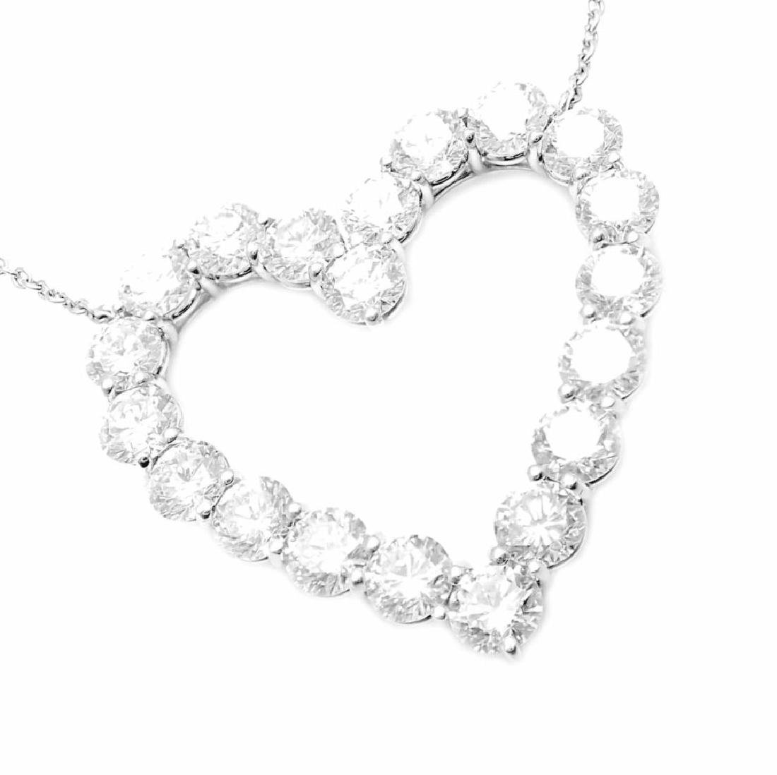 Tiffany & Co. Platinum 2.00ct Diamond Large Heart