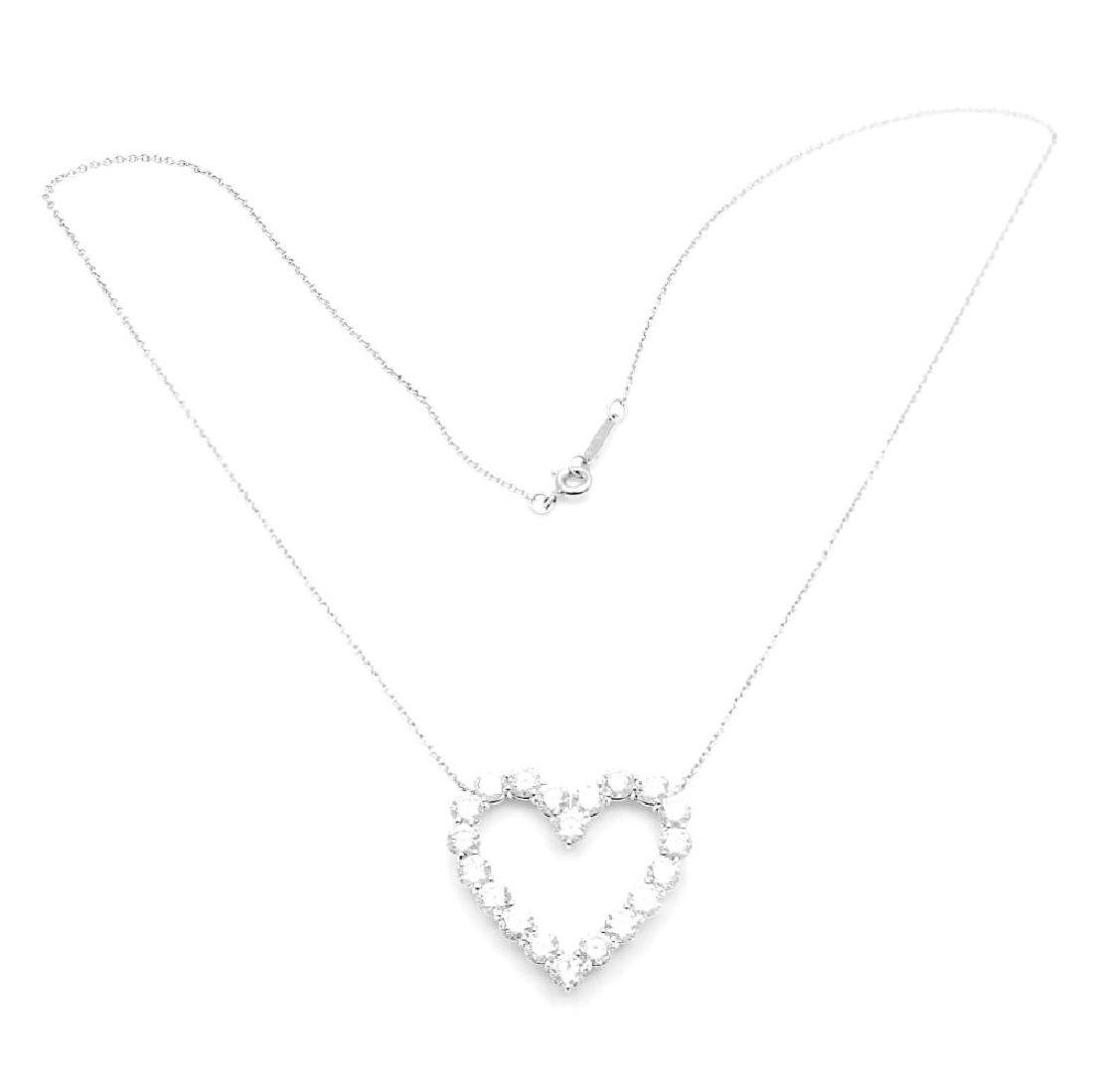 Tiffany & Co. Platinum 2.00ct Diamond Large Heart - 2