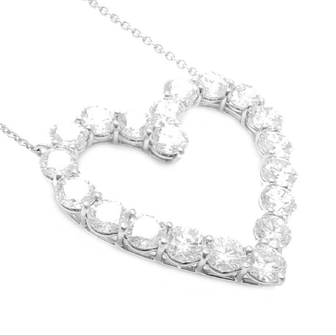 Tiffany & Co. Platinum 2.00ct Diamond Large Heart - 3