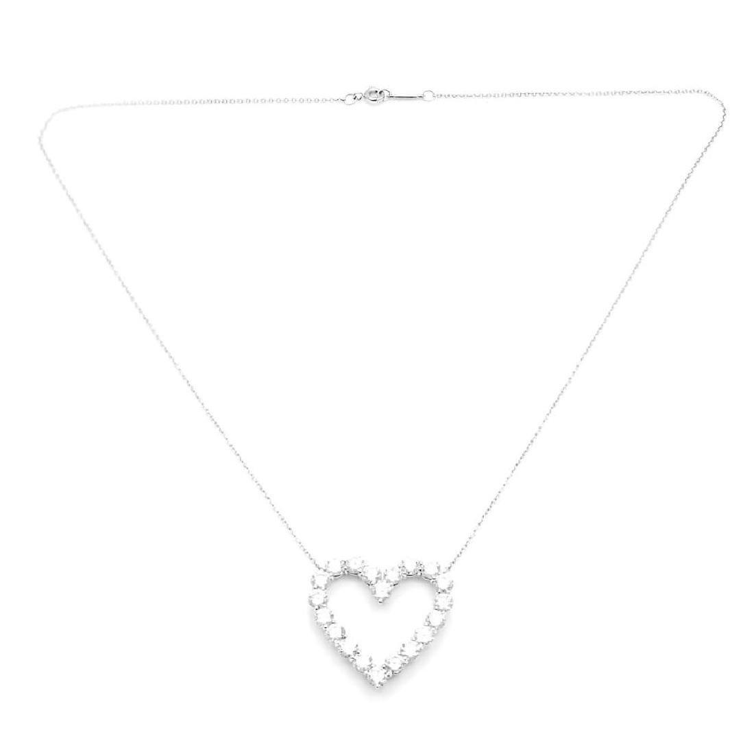 Tiffany & Co. Platinum 2.00ct Diamond Large Heart - 4