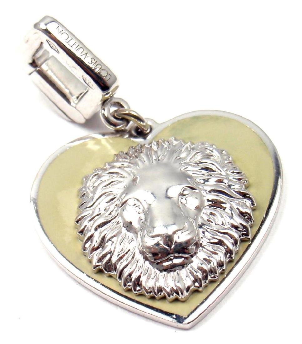 """Rare! Louis Vuitton 18k White Gold """"Be Well"""" Lion"""