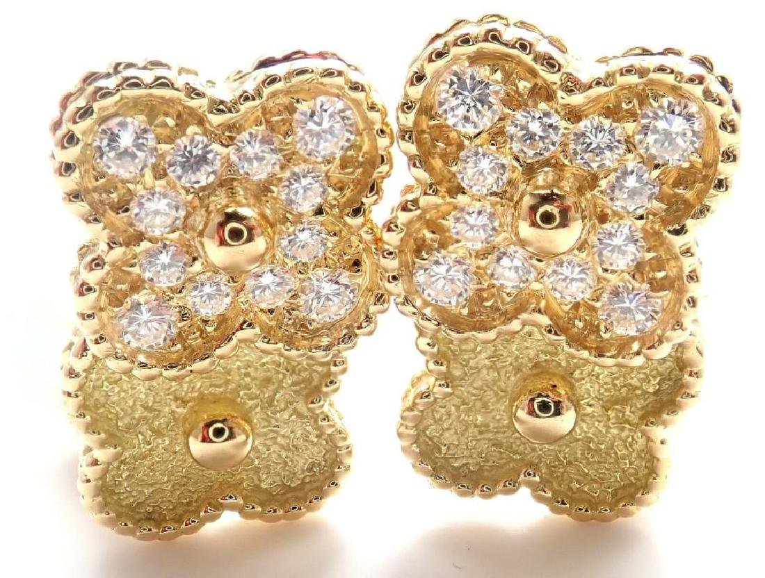 Authentic! Van Cleef and Arpels VCA Vintage 18k Yellow