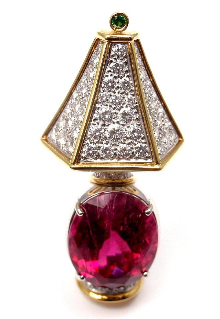 Authentic! Tiffany & Co Platinum 18k Gold Diamond