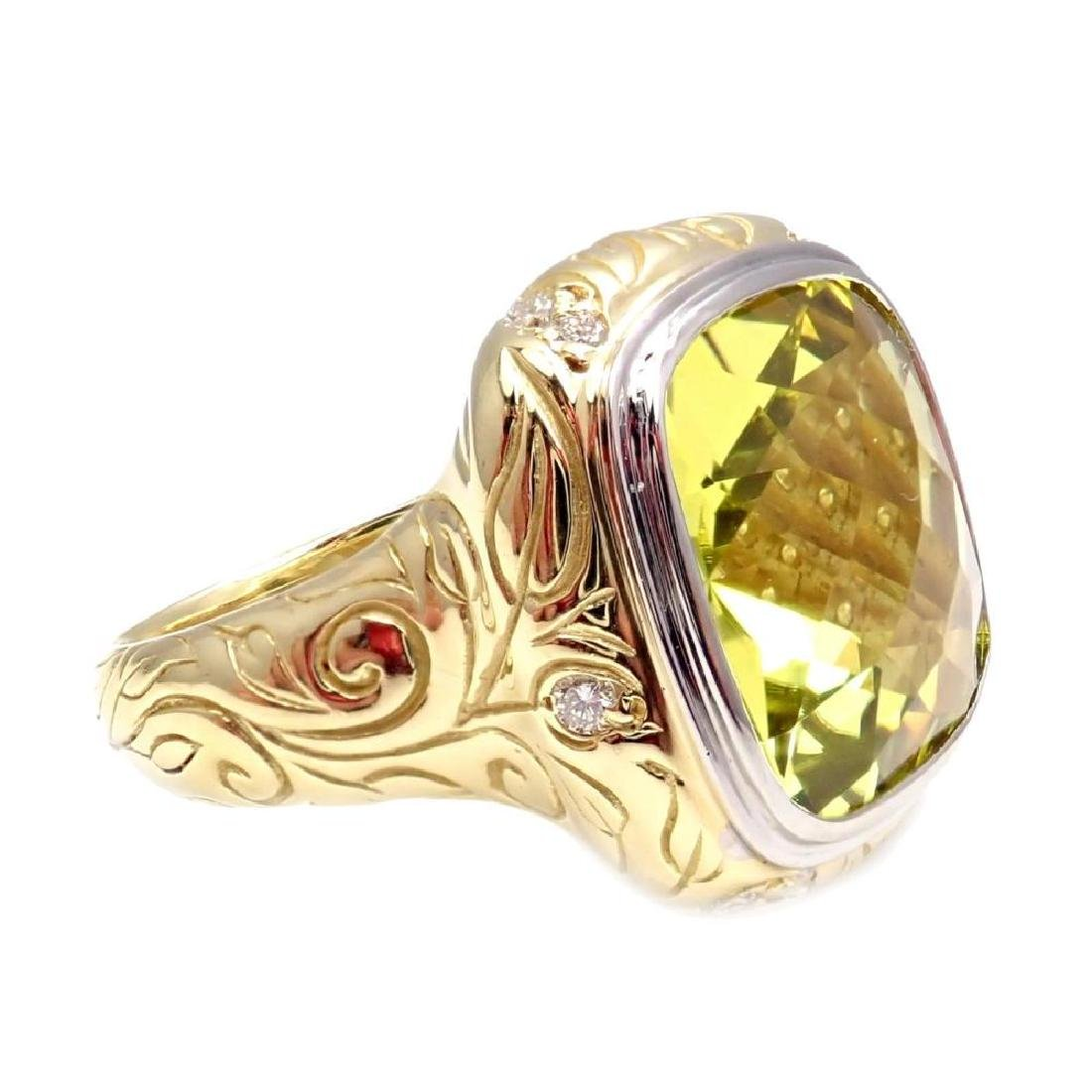 Authentic Seiden Gang 18k Yellow Gold Diamond Lemon