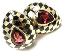 Angela Cummings 18k Gold Black Jade Pink Tourmaline