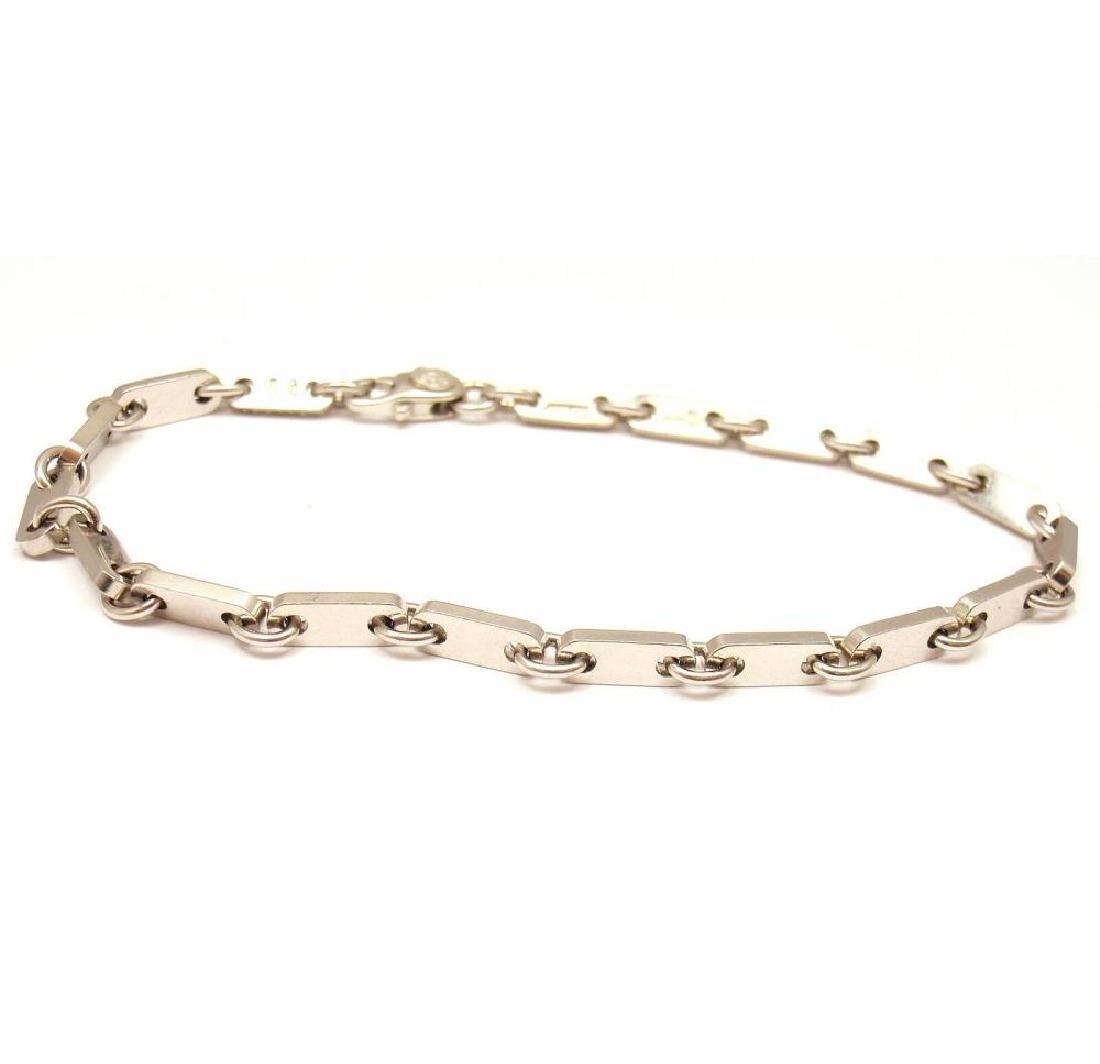 Cartier 18k White Gold Flat Link Bracelet 7''
