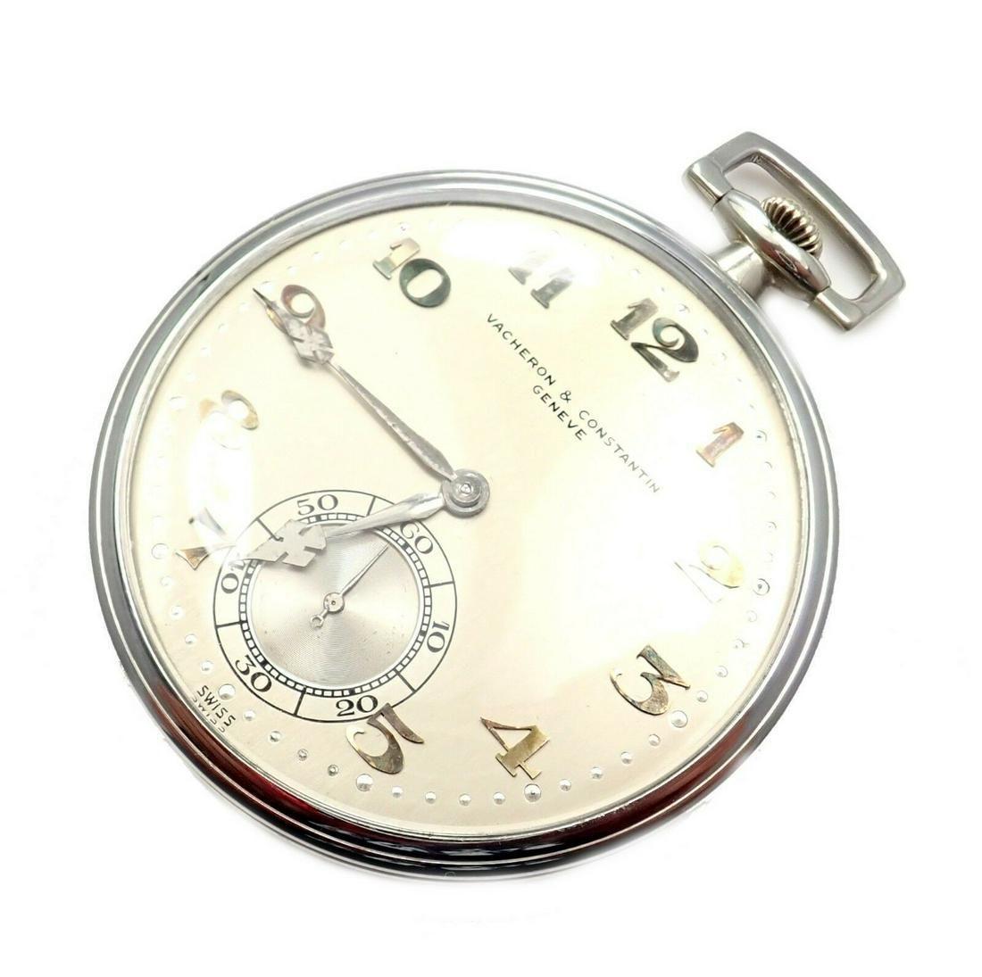 Vacheron Constantin 18K White Gold Pocket Watch 18J