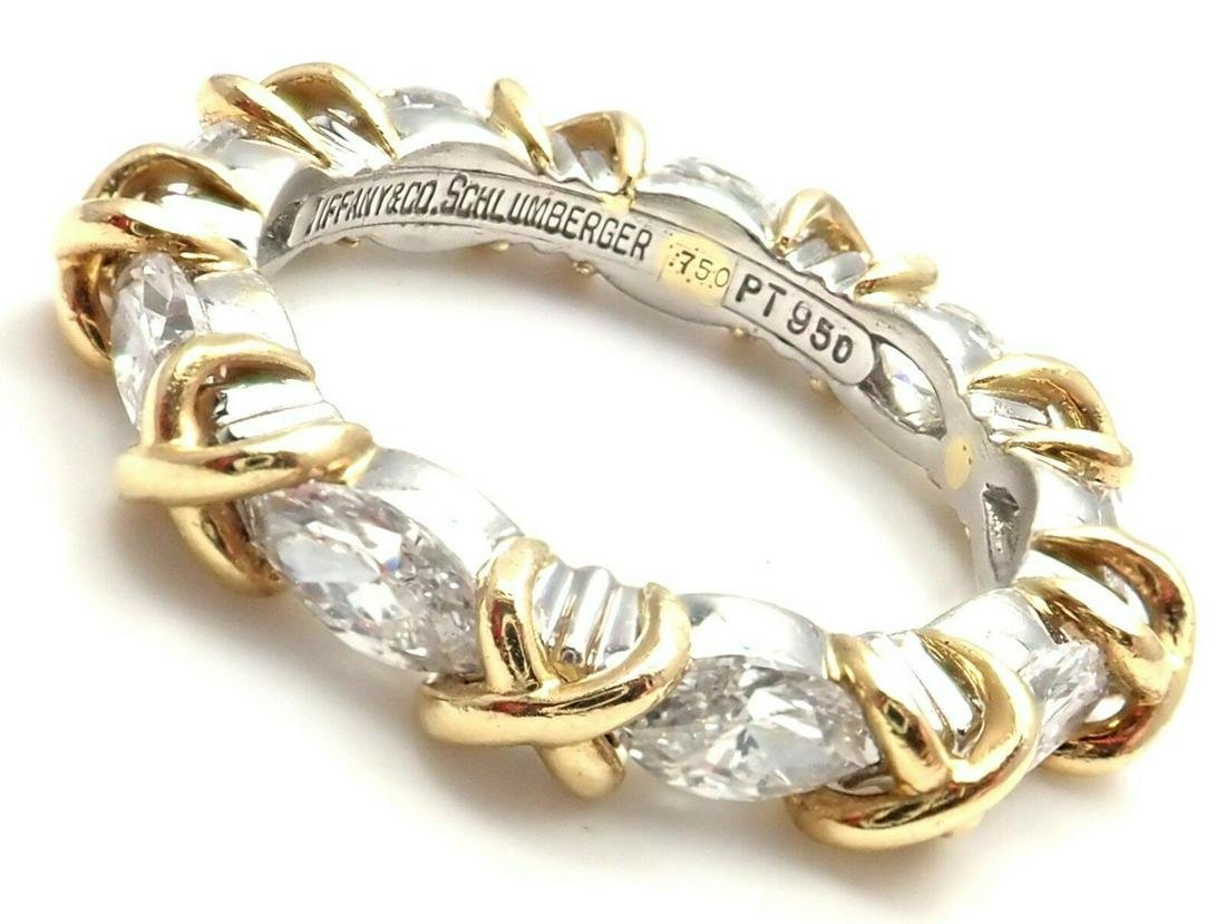 Tiffany & Co Schlumberger 18K Plat Diamond Ring