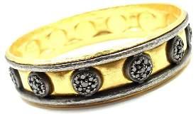 Gurhan 24K Yellow Gold Diamond Bangle Bracelet