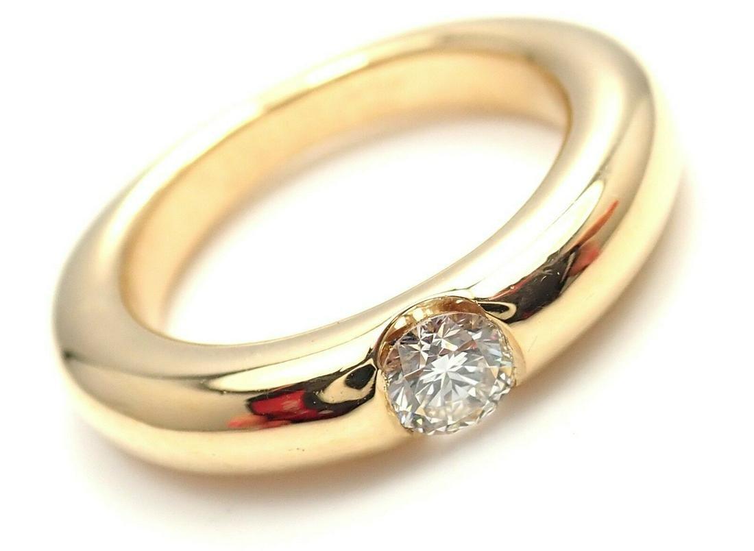 Cartier 18K Yellow Gold Diamond Ellipse Band Ring
