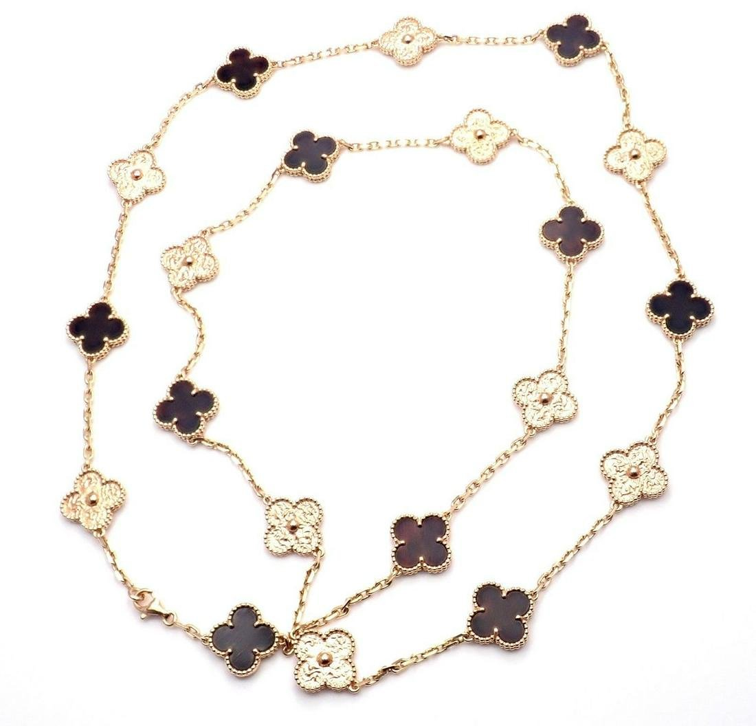 Van Cleef & Arpels 18K Rose Gold Alhambra Necklace