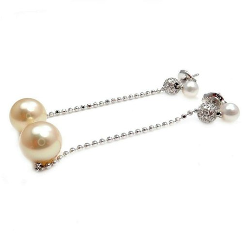 Mikimoto 18k Gold 10mm Golden South Sea Pearl Earrings Sep