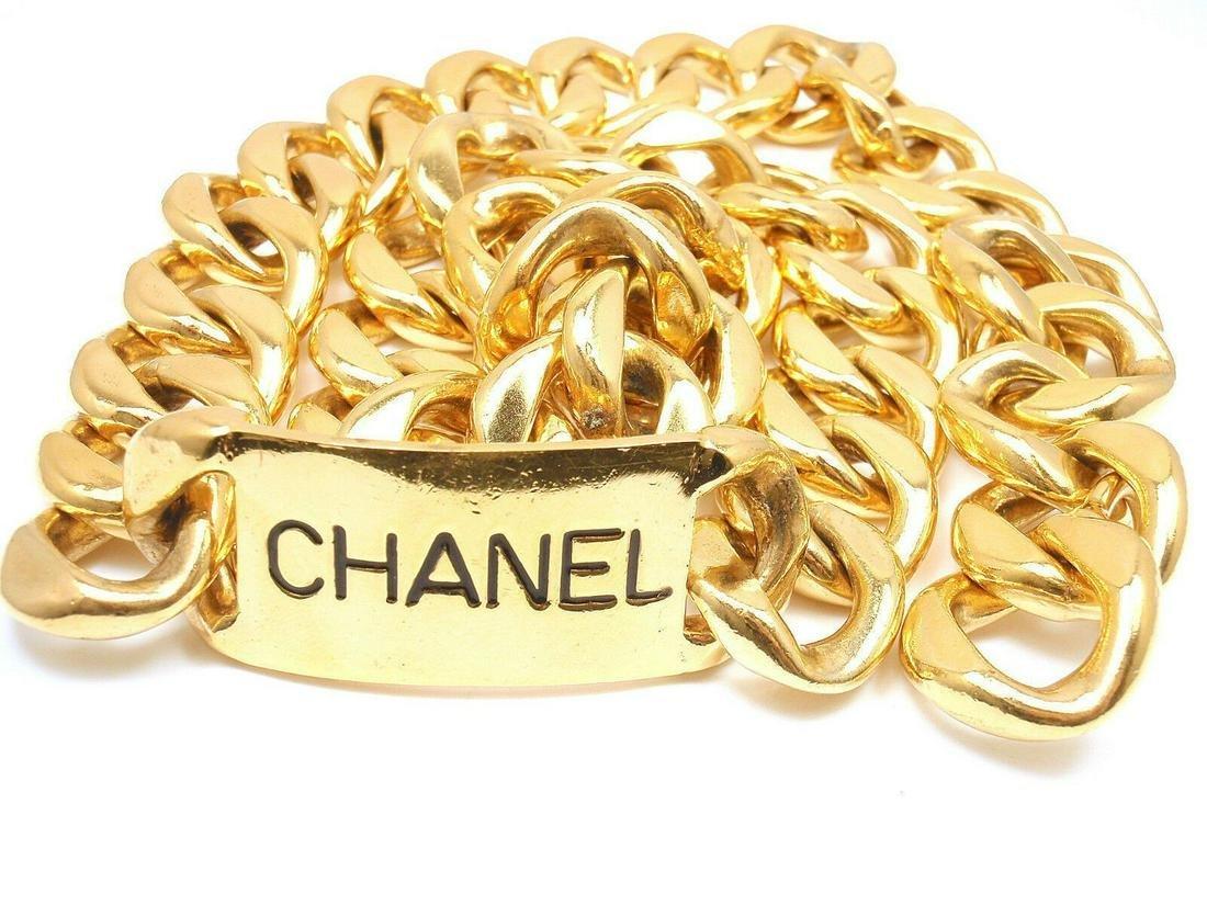 Chanel Extra Large Chunky Gold Tone Belt / Necklace