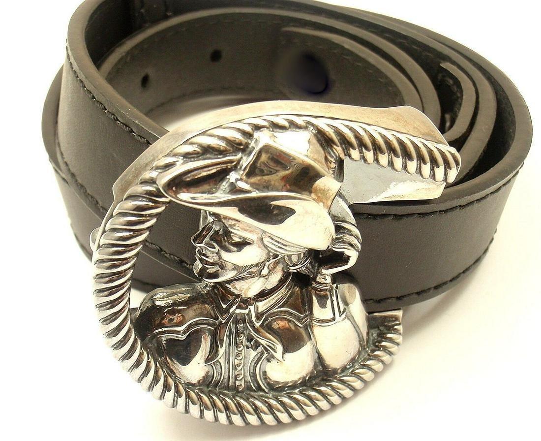Kieselstein Cord Sterling Silver Cowgirl Museum Belt