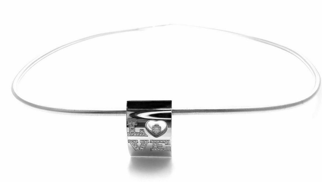 Chopard Happy Love 18K Gold Diamond Necklace