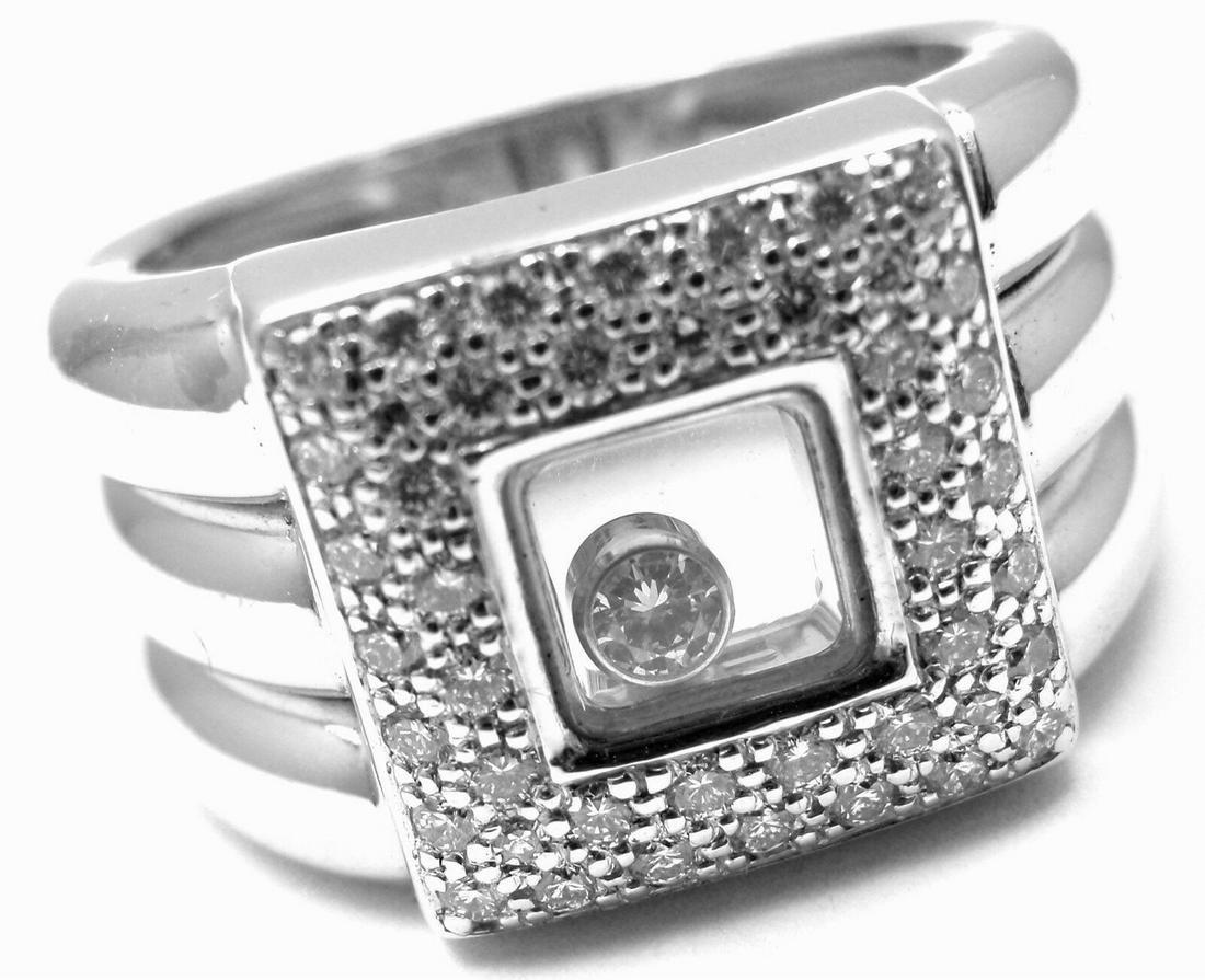 Chopard 18K Gold Happy Diamond Wide Ring