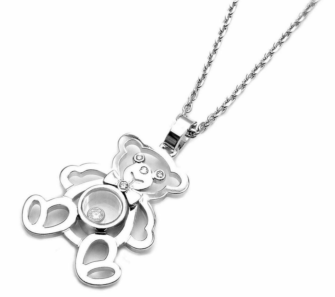 Chopard 18K Gold Happy Diamond Bear Necklace