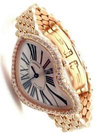 Cartier Limited Ed. Crash 18k Rose Gold Diamond Watch